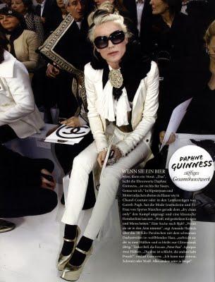 Daphne Guinness en primera fila en los Front Row