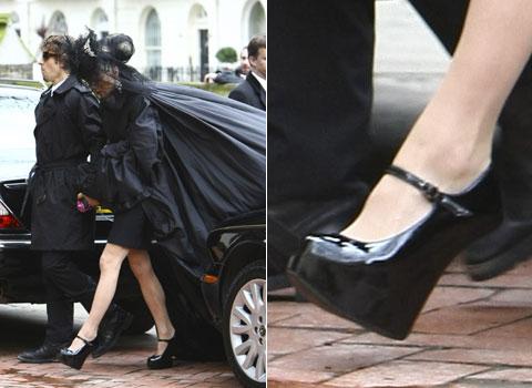 Daphne Guinness en el funeral de Alexander McQueen