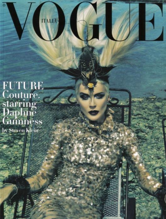 Daphne Guinness para la Vogue Italiana fotografiada por Steev Klein
