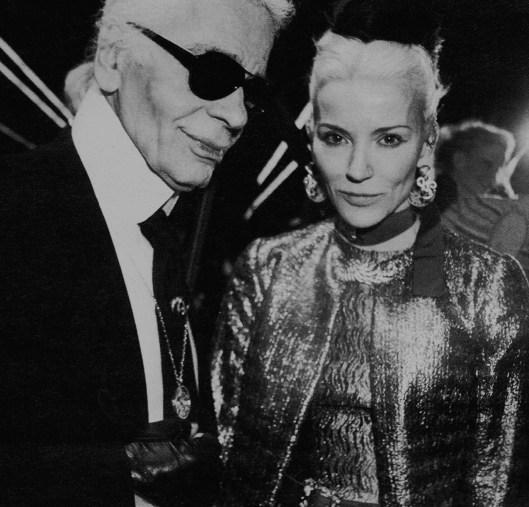 Daphne con Karl Lagerfeld