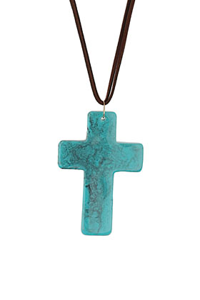 colgante con cruz de Top Shop