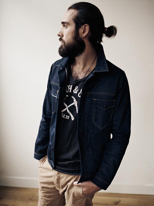 Christian Goran modelo de rasgos masculinos