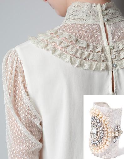 Camisa y brazalete de Zara