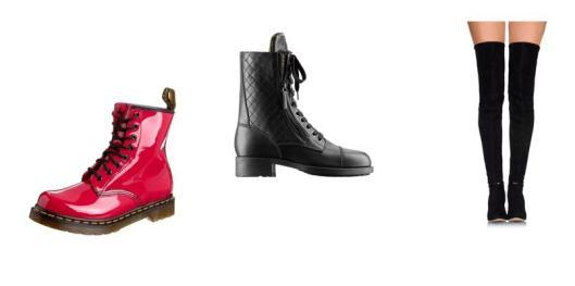 Dr Martens,  botas de Chanel, botas de caña alta de Gianvito Rossi