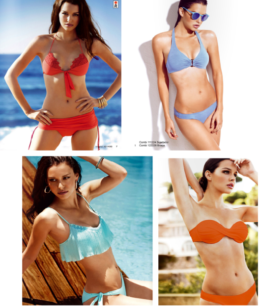 Bikinis con los colores de la temporada de Red Point