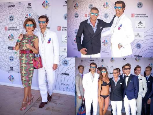 Rafael Medina con su madre Nati Abascal, con Lapo Elkann y con todos sus modelos destacando Jon Kortajarena y Malena Costa  ) imágenes de LostinVogue